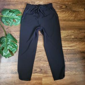 Zara Trafaluc Black Tapered Crop Pants
